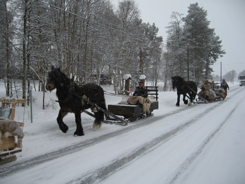Så var vi i gang fra Røste, like nord for Os. Foto: Karine Bogsti
