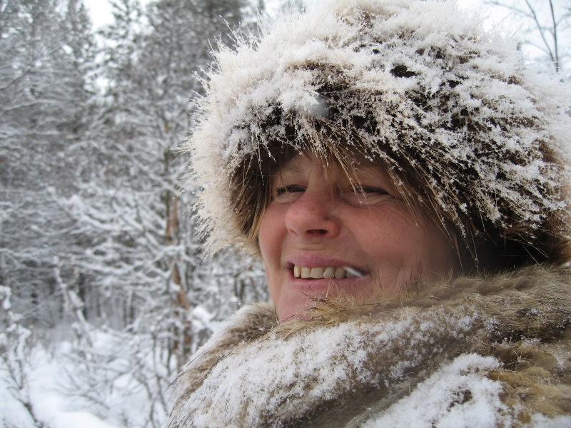 Snøete lasskjører; Eli. Foto: Karine Bogsti