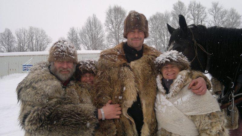 En gjeng glade lasskjørere, vel framme på Røros. F.v. Jørgen Hveem, Eli Lang-Ree, Jøran Lunde og Marit Lahlum Ruud. Foto: Karine Bogsti