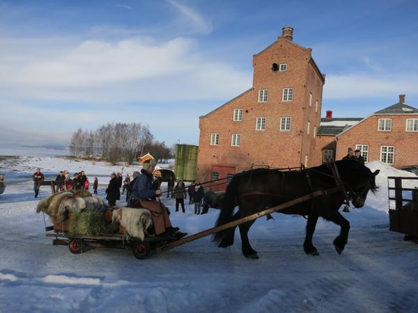 Ut på tur for Gry Ottesen og Lappa. Foto: Karine Bogsti