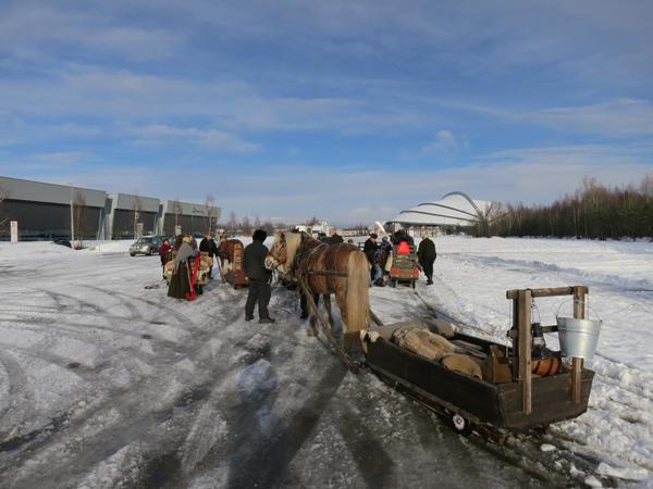 Ble en liten stopp ved Vikingskipet. Foto: Karine Bogsti