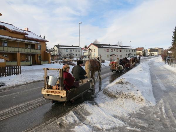 På tur i Hamar by. Foto: Karine Bogsti