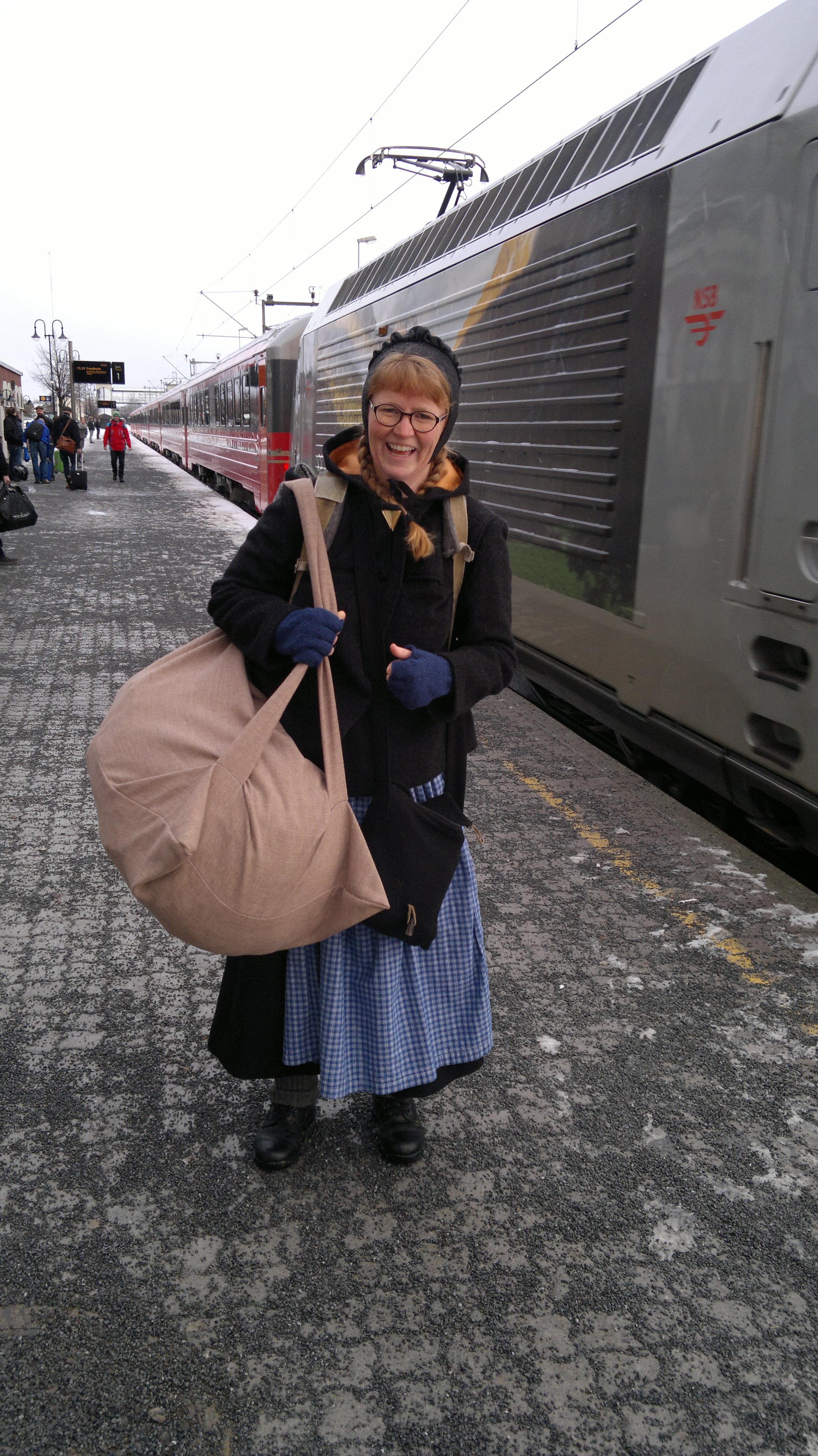 Karine startet på Hamar stasjon. Foto: Siv Vassdal