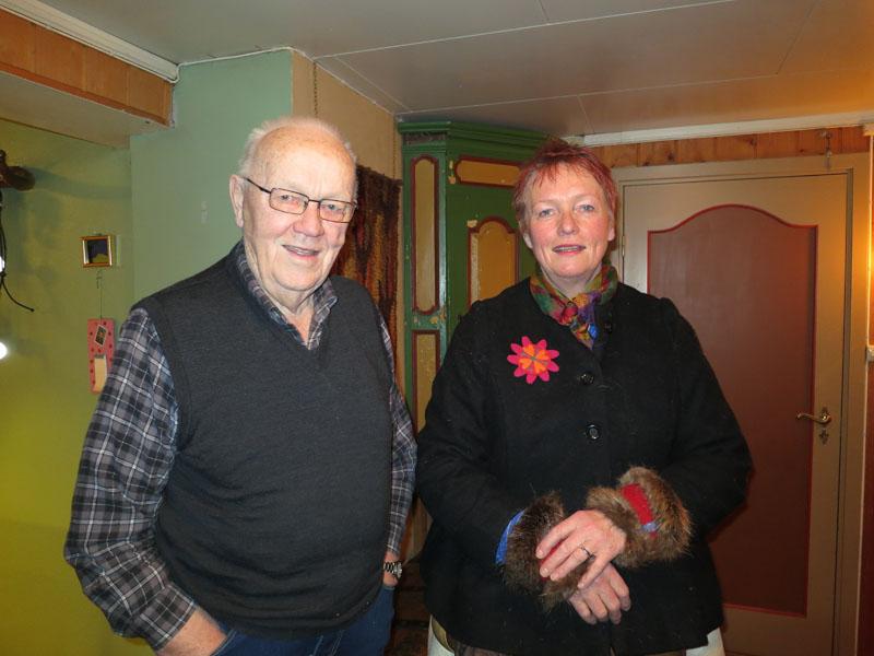 Takk til Morten Anderssen og Mari Bryhni for at husly og traktering på Enge! Foto: Karine Bogsti