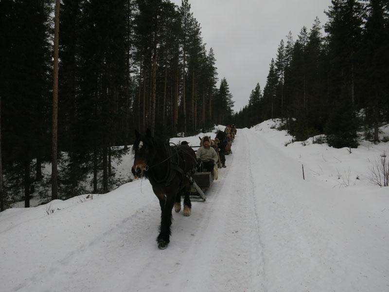 I stedet for å kjøre isen, ble det en runde om Fossbrua over Atna, og videre på fine skogsveger på vestsida av Glomma. Foto: Karine Bogsti
