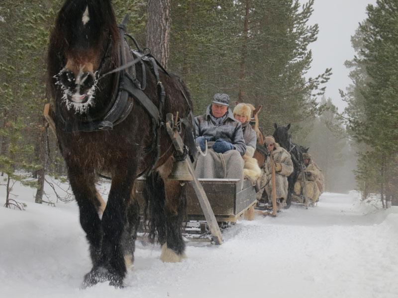 Det ble en skikkelig snødag. Foto: Karine Bogsti