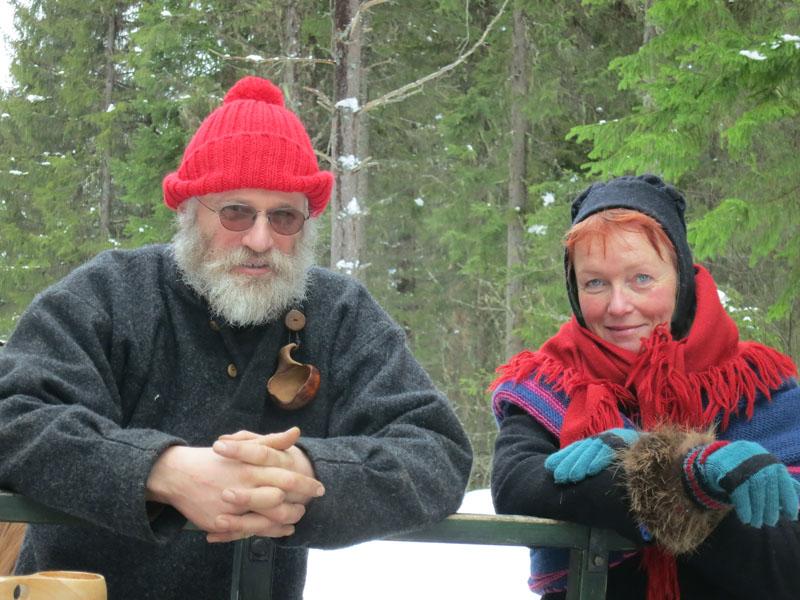 Sjå på disse to luringene; hva pønsker de på av spik, mon tru? Foto: Karine Bogsti