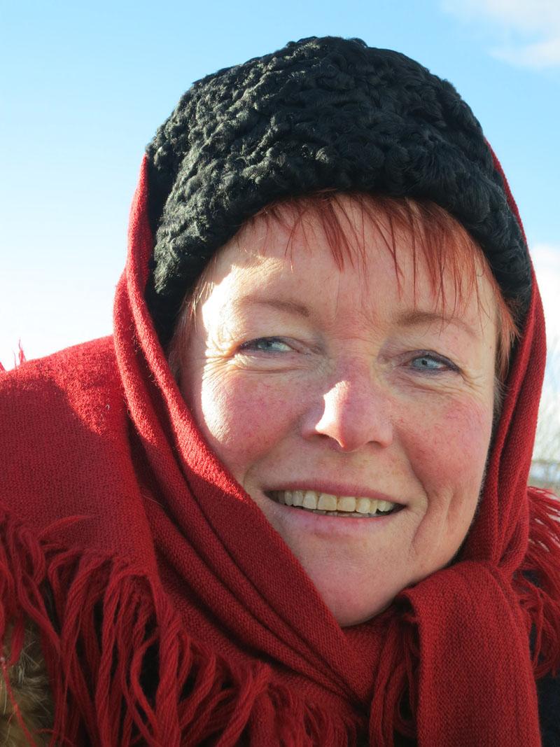 Mari Bryhni fra Løten har vært med på alle de ni turene som Hedemarken Lasskjørerforening har hatt til Rørosmartnan. Foto: Karine Bogsti