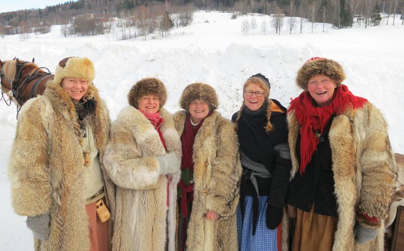 Det er definitivt ikke lettkledde damer blant lasskjørerne ;-) Foto: Jørgen Hveem