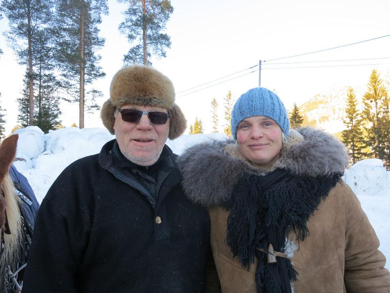 Kjell Ivar Stensli fra Brumunddal og Berit. Foto: Karine Bogsti
