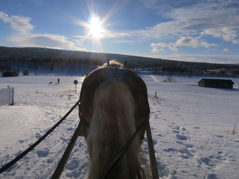Sola skinner vakkert over Røros. Foto: Karine Bogsti