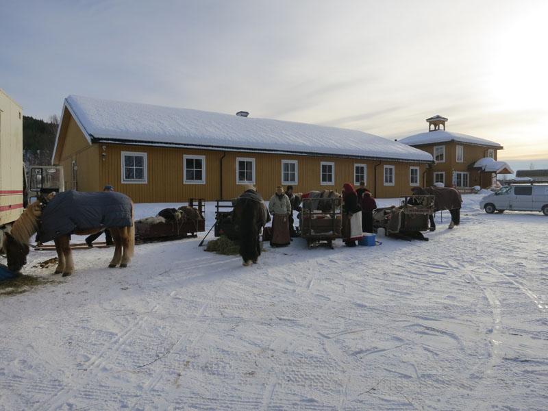 Langkvil ved Rena motell, hvor vi også er takknemlig for å ha fått vatn til hesta. Foto: Karine Bogsti