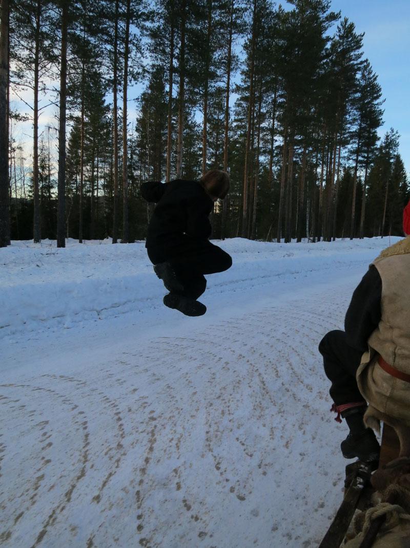 Jøren har defitintivt gjengens høyeste hopp! Foto Karine Bogsti
