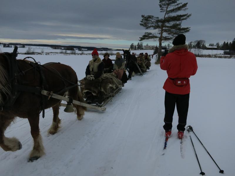 Både bra sledeføre, og skiføre denne dagen på Starene. Foto: Karine Bogsti