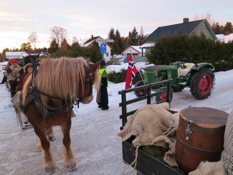 Historie møter historie møter nåtid på Klevbakken. Foto: Karine Bogsti