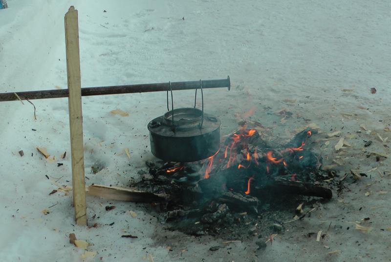 Skikkelig kjerring på bålet i dag. Foto: Karine Bogsti