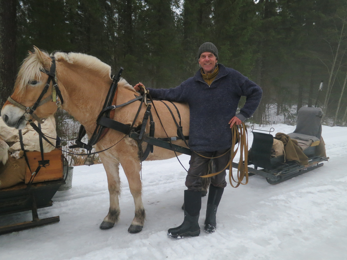 Tom-Vetle Nilsen fra Løten og fjordingen Peik var med fra Atlungstad til Elverum. Foto: Karine Bogsti