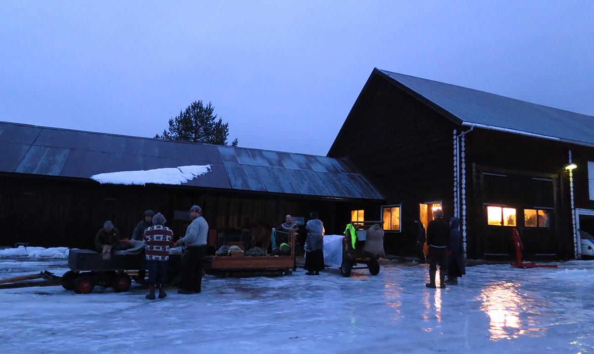Vi har hatt ei fin, god natt på Søndre Økseth. Foto: Karine Bogsti