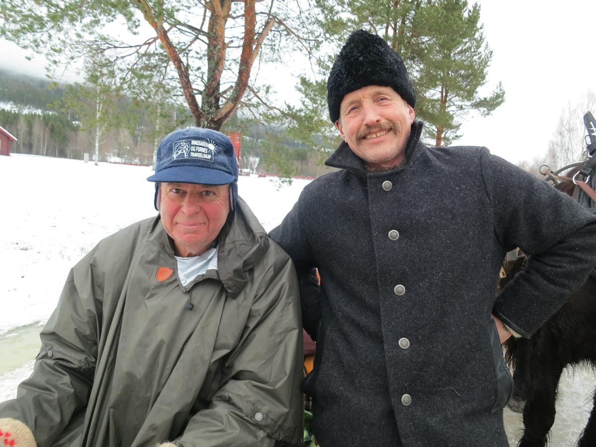 Kjell Aage Øie-Kjøstad fra Furnes og Ola Grønvold fra Stange. Foto: Karine Bogsti