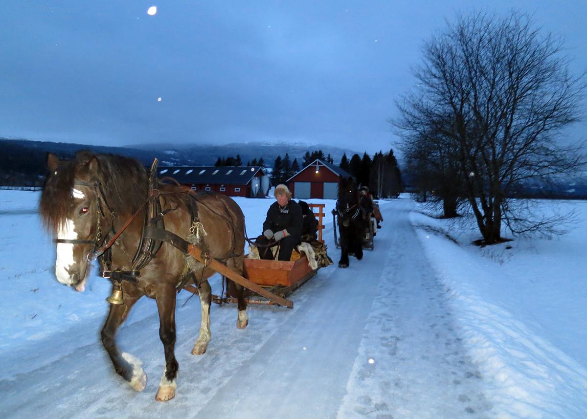 På veg fra Evenstad. Foto: Karine Bogsti
