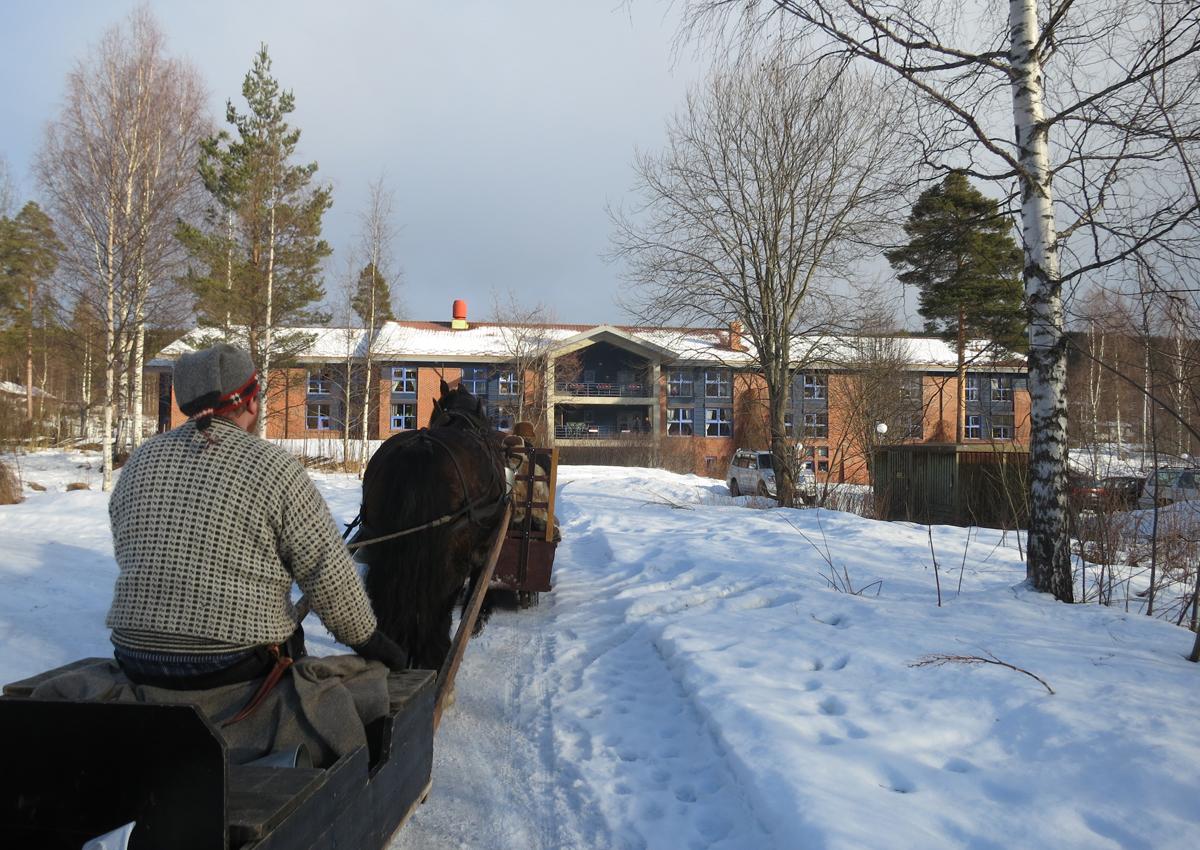 Vi tar en tur på Moratunet på Koppang. Foto: Karine Bogsti
