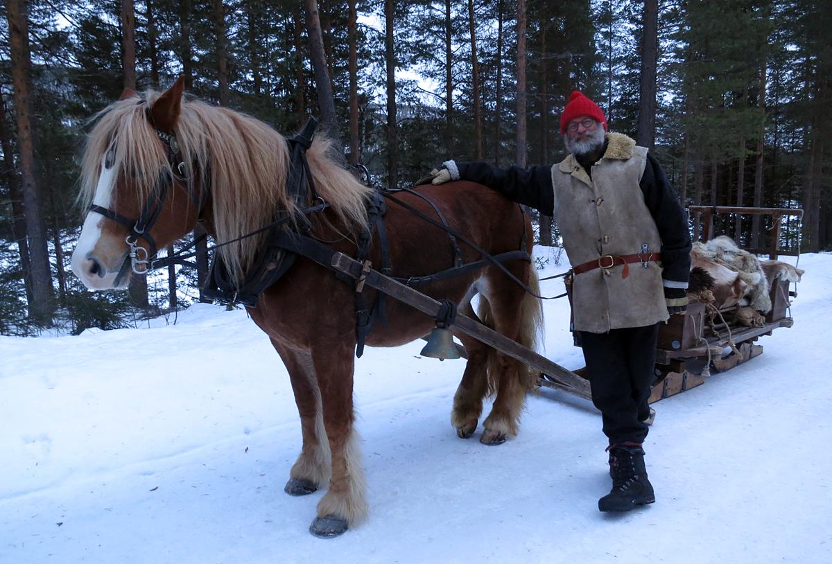 Hesten Brennsæterjinta med Jørgen Hveem. Foto: Karine Bogsti