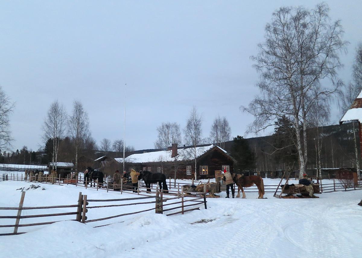 Så er vi endelig framme ved dagens mål; Grøtting hos Sissel og Tor Sund. Foto: Karine Bogsti