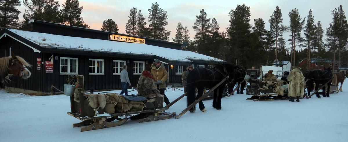 Dagens endemål; Trollkroa hvor vi har fått kjempegod mat. Foto: Karine Bogsti